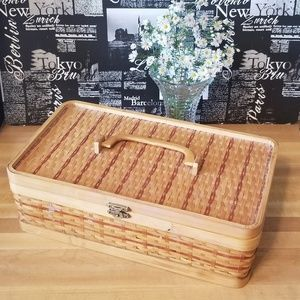 Wicker Box with Handle